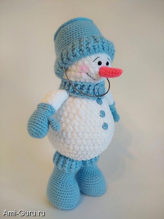 бесплатное описание снеговика амигуруми вязаные игрушки ручной